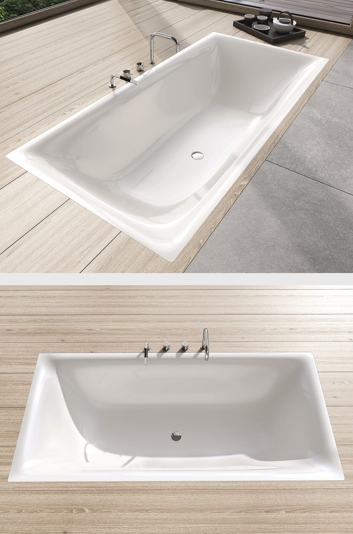 KALDEWEI bathroom: The sensually modern design of the SILENIO series distinguishes itself through its exciting tensions: The soft, organic interior shape culminates in a narrow, precise washbasin lip – with a straight-lined, geometrical external shape. #Kaldewei #Washbasin #Waschtisch #Bath #Bathtub #Badewanne #Design #Anke #Salomon