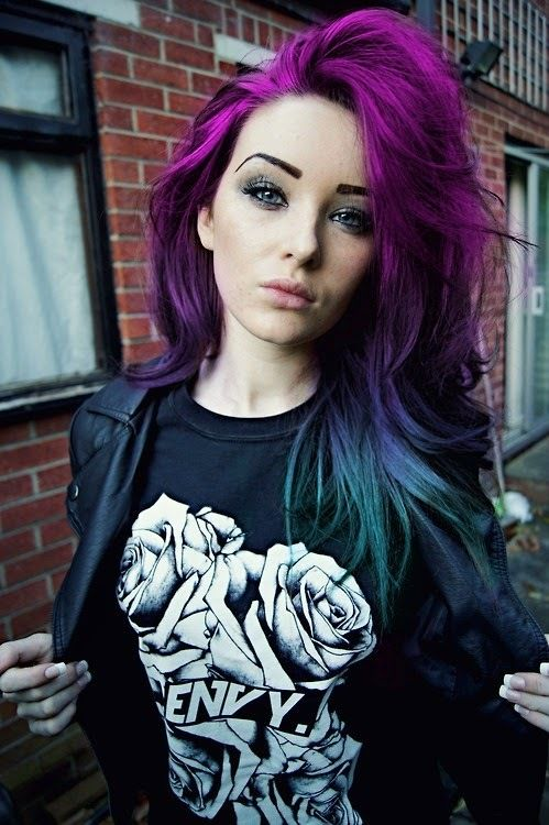 her hair is beautiful