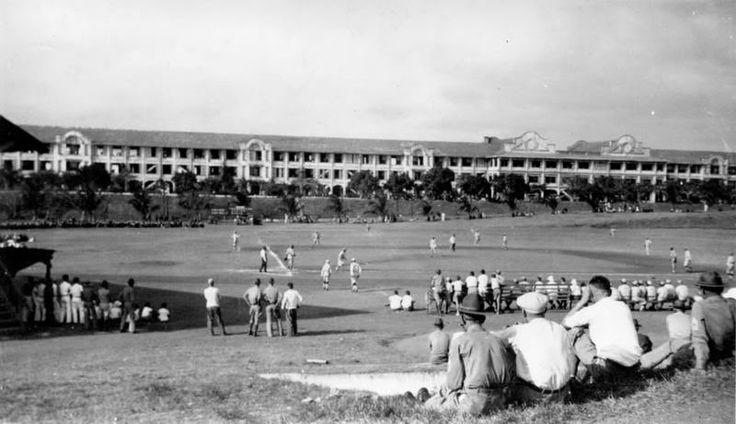 Topside Parade Grounds with Mile Long Barracks in the background