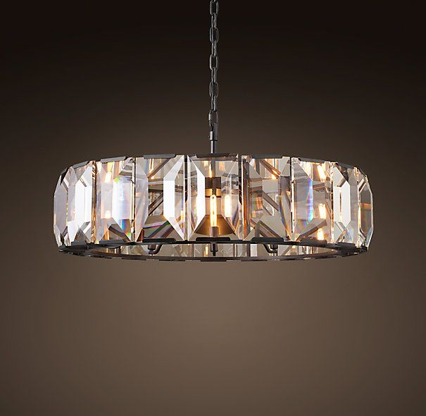 Harlow Crystal 43 Quot Chandelier Grey Iron 4995 Special