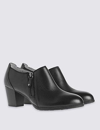 Side Zipped Shoes | M&S