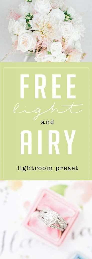 free light and airy lightroom preset