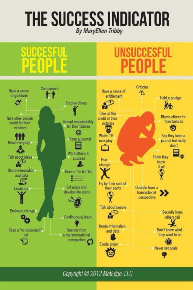 The Success Indicator... Which side do you fall on?