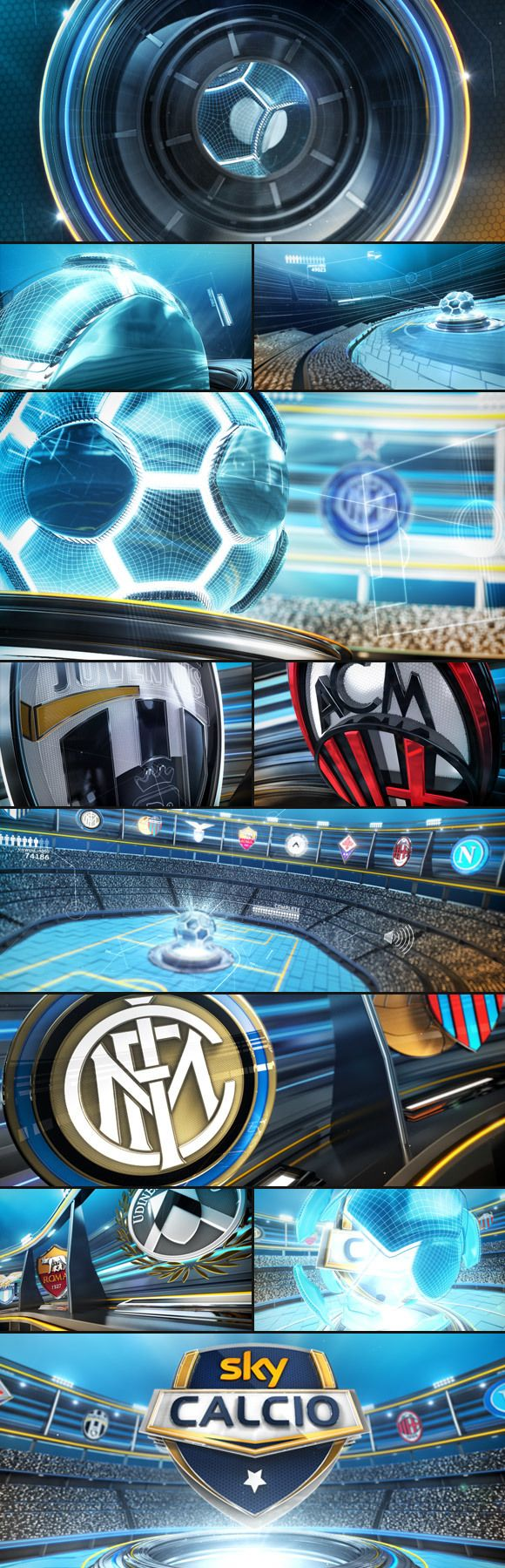 Sky Calcio 2013-14 by Carmine Renzulli, via Behance