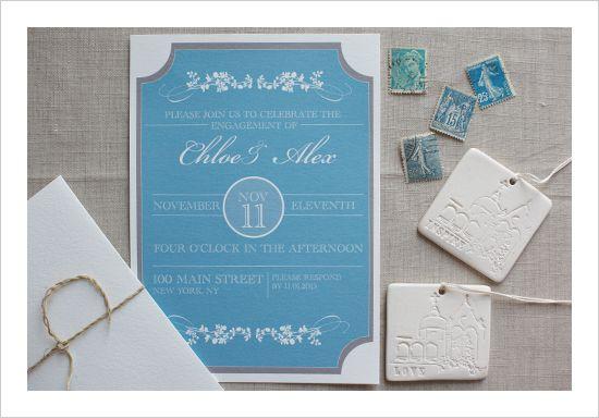 Sophisticated Free Printable Engagement Invitations Template. #weddingchicks.com