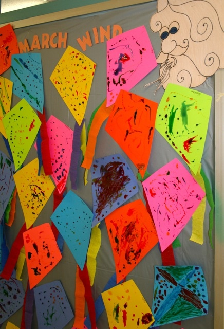 kite craft and bulletin board