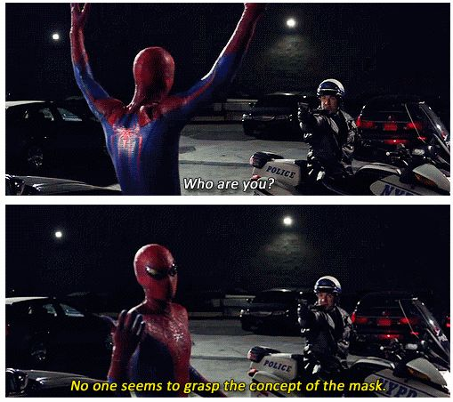 The Amazing Spiderman. I loved the classic Spiderman humor in this scene.----------- agreed!!!!!