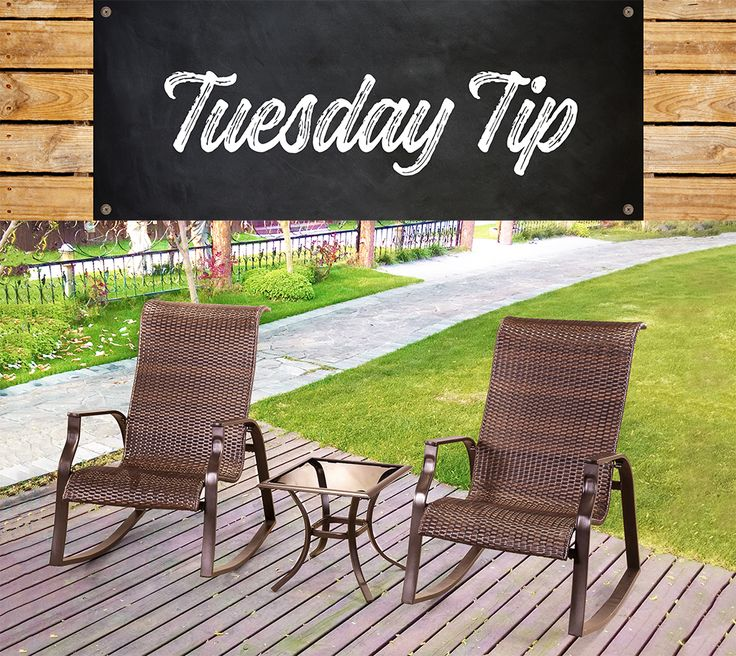 Clean your wicker outdoor furniture with a