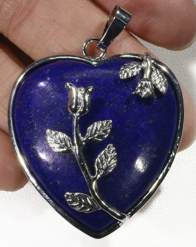 85cts Heart Shape lapis lazuli pendant PPP1200 heart shape gemstone pendant, pendant lapis lazuli