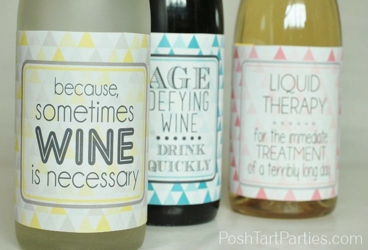 Cool Wine Sayings Label