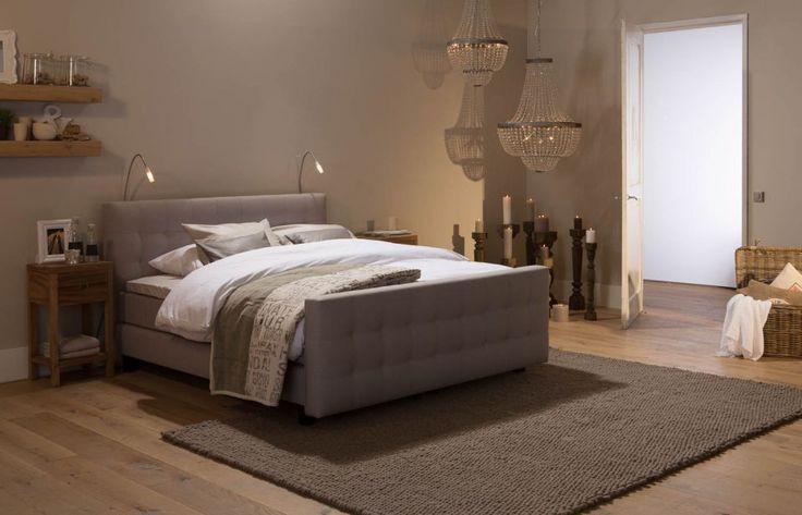 boxspring Cambridge - slaapkamer romantisch beige - #Goossens wonen & slapen
