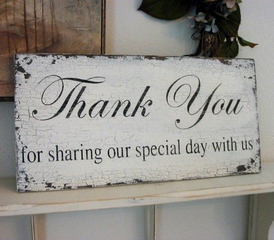 THANK YOU for sharing our special day with by thebackporchshoppe, $36.95