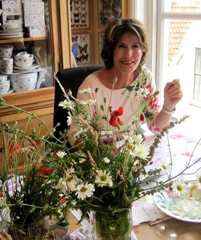 Janneke Brinkman-Salentijn in Leiden, haar atelier