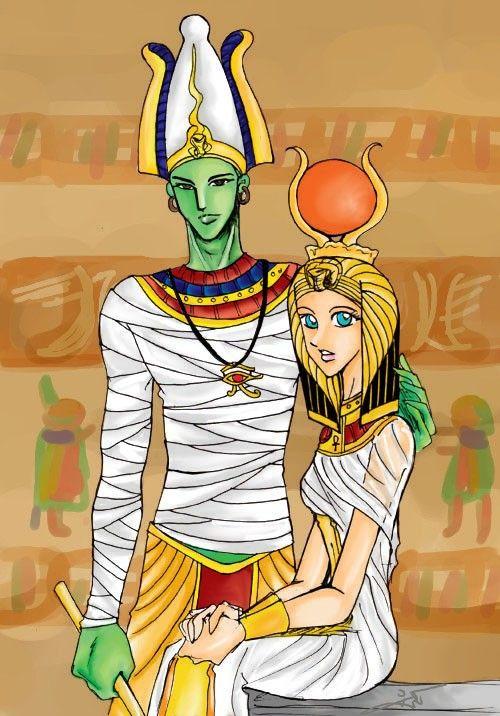 Osiris and Isis (Usir and Aset)