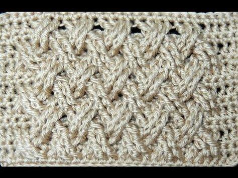 ▶ Crochê: Ponto Entrecruzado em Plano - / ▶ Crochet : Punto Entrecruzado Plano -