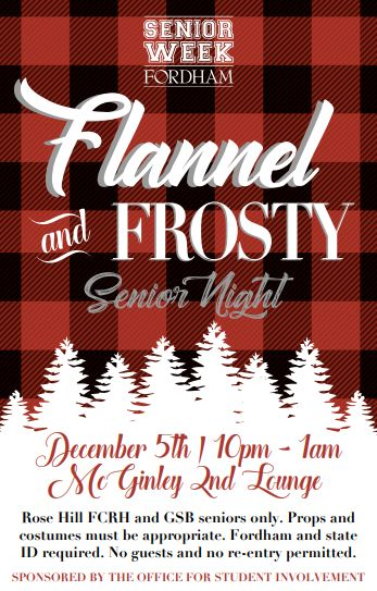 Poster Flannel and Frosty College theme party
