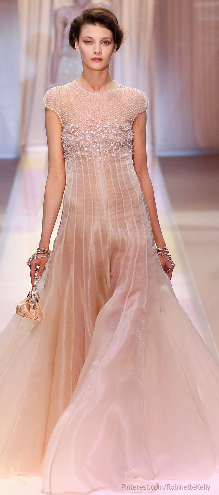 Armani Privé Haute Couture | F/W 2013 - i like the dress but, frankly, it looks awful on this model who has no shape.