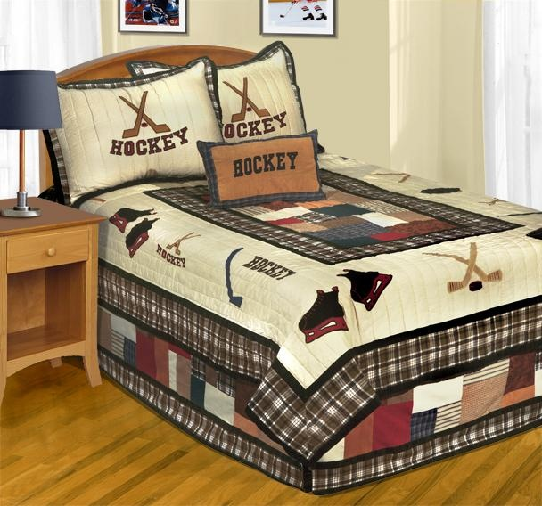 Hockey Bedding Decorating Pinterest Cas Quilt And