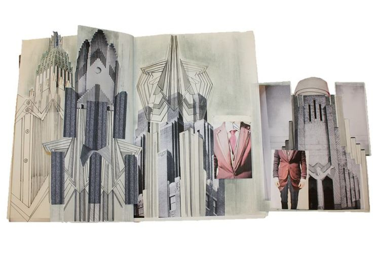 Fashion Sketchbook - architecture inspired fashion design, mirroring shapes & lines seen in buildings; fashion student portfolio development