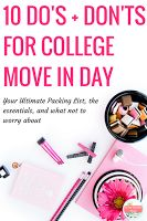 College Move in Day Tips- what you should and shouldn't when you move in to college