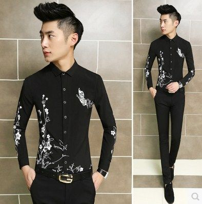 Find More Casual Shirts Information about 2015 New Arrivel Evening Club Office Casual Shirts Flower Print Shirts Free Shipping 304,High Quality Casual Shirts from Great Store -- Manufactory Supply on Aliexpress.com
