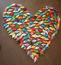 Our very special gift to a very special little boy, Cooper, paper cranes made by Brittany