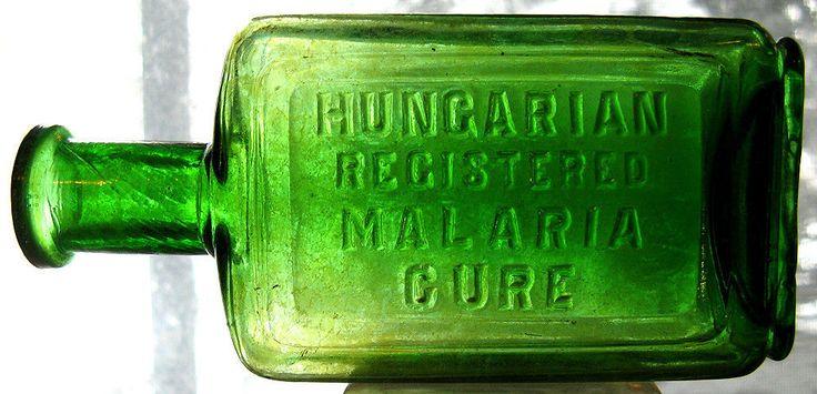 Antique Hungarian Malaria Cure Bottle | eBay