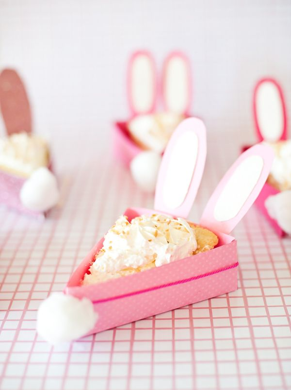 Printable Bunny Pie Box template from @asubtlerevelry - For serving pie pieces at a brunch, or sending the pieces home – these bunny pie boxes will make everyone smile.
