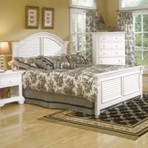 Found it at Wayfair - Cottage Traditions Panel Bed Bedroom Set in Distressed Eggshell White