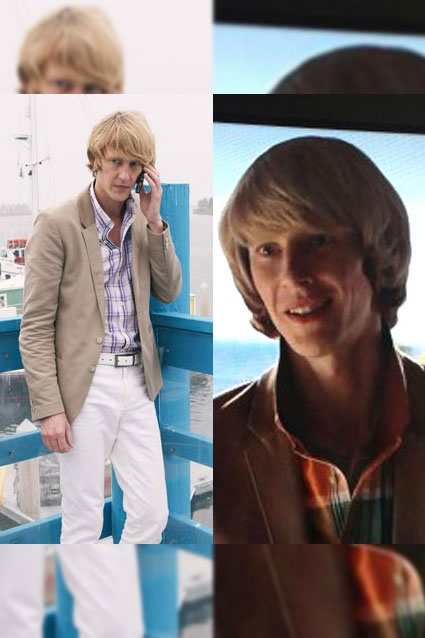 Nolan Ross' (Gabriel Mann) style is very similar to that of Chuck Bass on Gossip Girl. The bright-colored, collar poppin' looks on Emily Thorne's lanky accomplice fits his billionaire character perfectly.