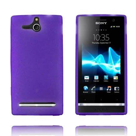Soft Shell - Matta Pintainena Läpikuultava (Violetti) Sony Xperia U Silikonisuojus