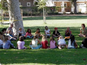 Community Circle at Goleta Family School