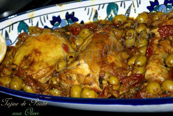 Tajine de Poulet aux olives, zeste de citron et tomates séchés