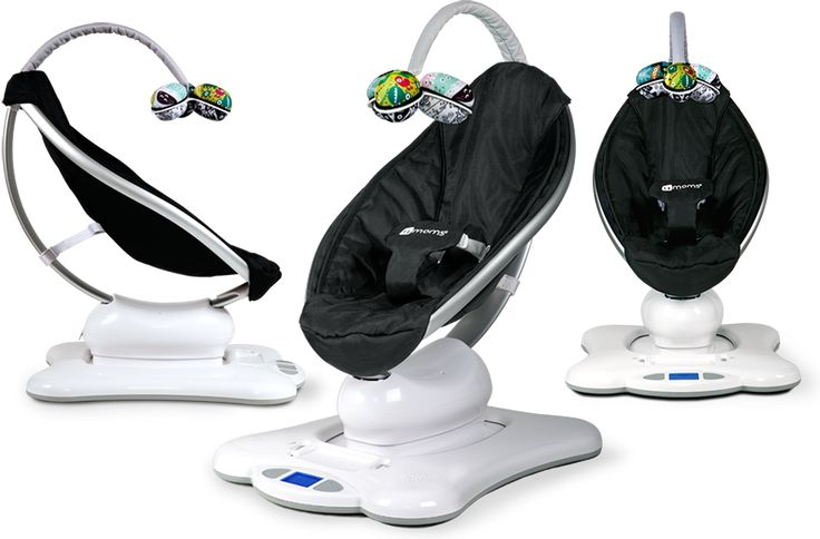 The mamaRoo plush bounces up and down and sways from side to side, just like parents do when comforting their babies // Built-in nature sounds  or connect any mp3 player //  Plush toy balls are reversible in black and white on one side for infants.The other side is for when babies can see color (around 4 months). Perfectly sized for little hands, they easily pop in and out of the mobile // seat recline adjustable to any position // WANT & NEED !!