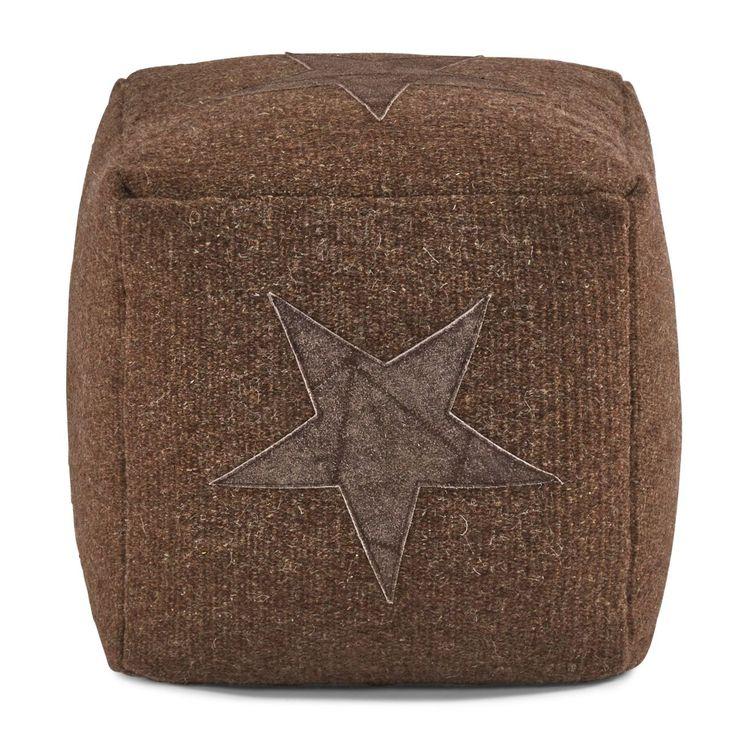 Sitzkissen Stern, Wolle Baumwolle, ca. 40 x 40 x 40 cm