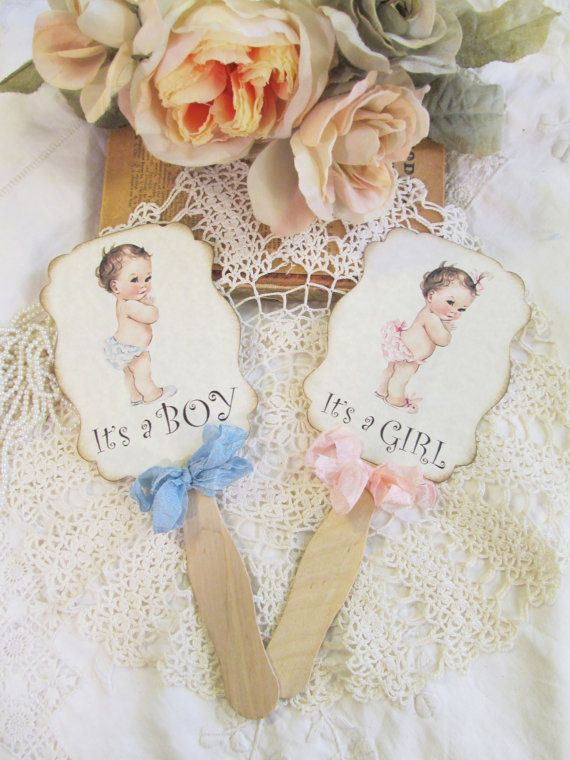 vintage baby shower cake topper with ribbon bow itu0027s a girl or boy choose ribbons baby sprinkle shower