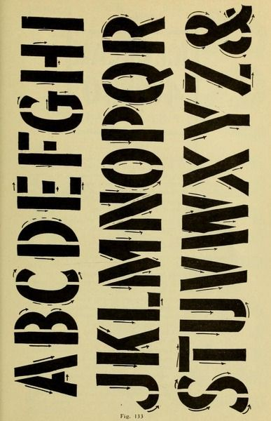 70 best signwriting literature of old images on pinterest letters easy stencil lettering brush and ink from the public domain ebook modern malvernweather Image collections