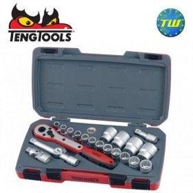 "Teng 21pc 1/2"" Drive Socket & Ratchet Set T1221"