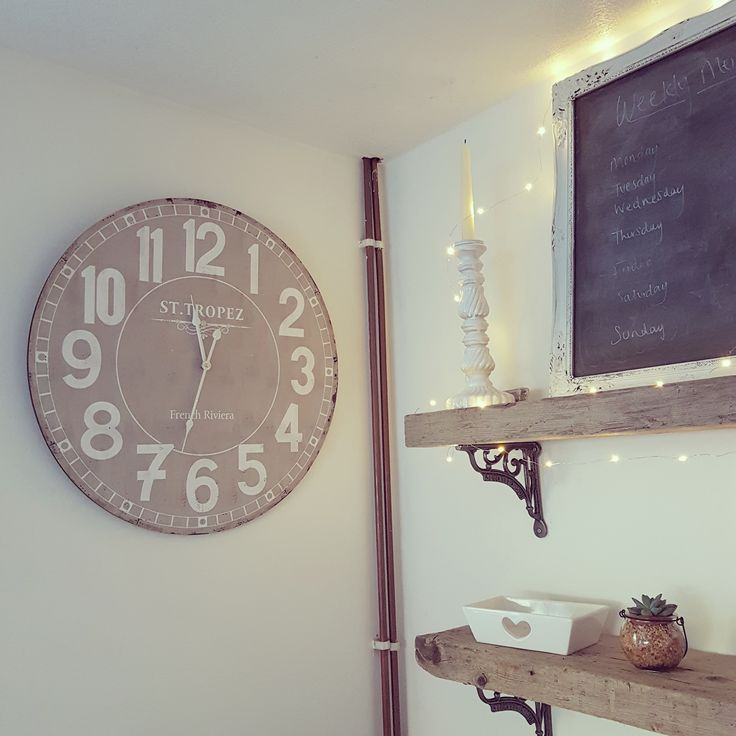 ~ Large French grey clock ~ / Ruby Summers Country Home