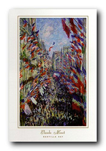 Create a stylish look for your living room by hanging this wonderful Claude Monet Bastille day picture art print poster. Bastille Day is the French national holiday. The Bastille was a prison and a symbol of the absolute and arbitrary power of Louis the 16th's Ancient Regime. This poster will bring your home walls to life. Grab this amazing poster for its high quality gloss finish paper with archival quality inks which ensures long lasting beauty of the posters without color fading.