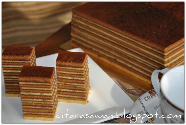 Kek Lapis Kopi / Coffee Layer Cake - Recipes Today!