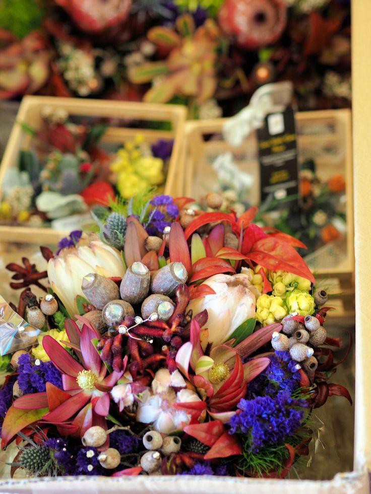 Native wedding bouquet. By Karen.  Sweet Wattle Grove Florist.