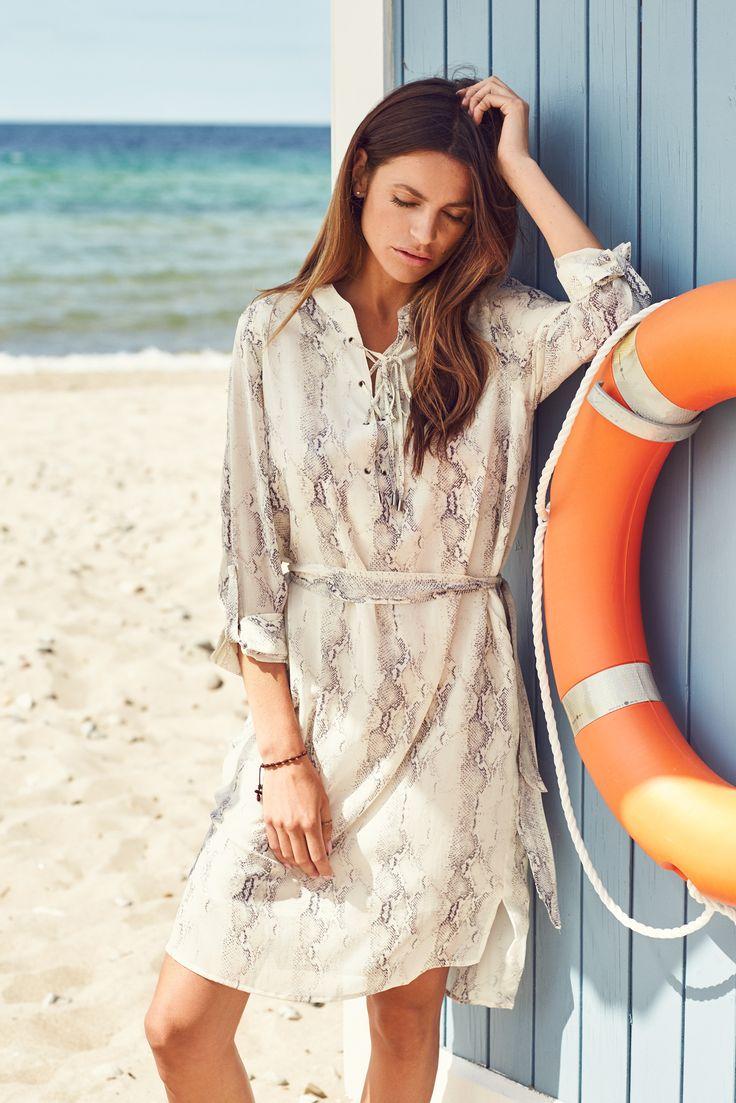 Kendall stretch silk dress in Snake with string detail Dea Kudibal SS17 // Dreamcatcher