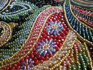 Japanese beaded embroidery by Coral-Seas at Threads Across the Web - absolutely gorgeous beadwork!