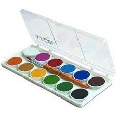 Kis gombos vízfesték készlet 12 darabos, ecsettel - Adel 921 - Akvarell festék - 399Ft - Vízfesték - Vízfesték készlet - Akvarell festék