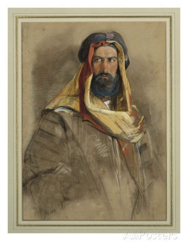 Study of an Arab Sheikh Giclee Print by John Frederick Lewis at AllPosters.com