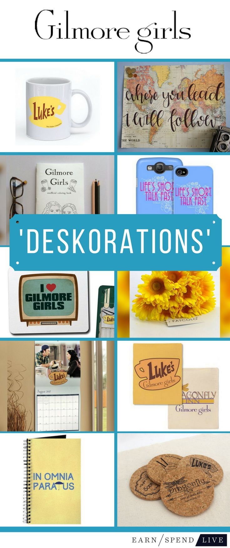 Deskorations: 'Gilmore Girls' Desk Essentials
