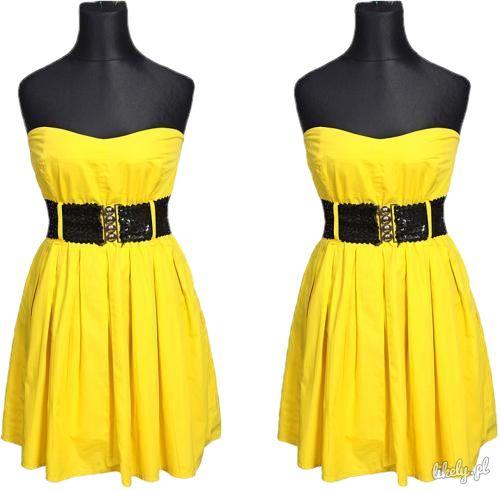 New look zółta seksowna sukienka