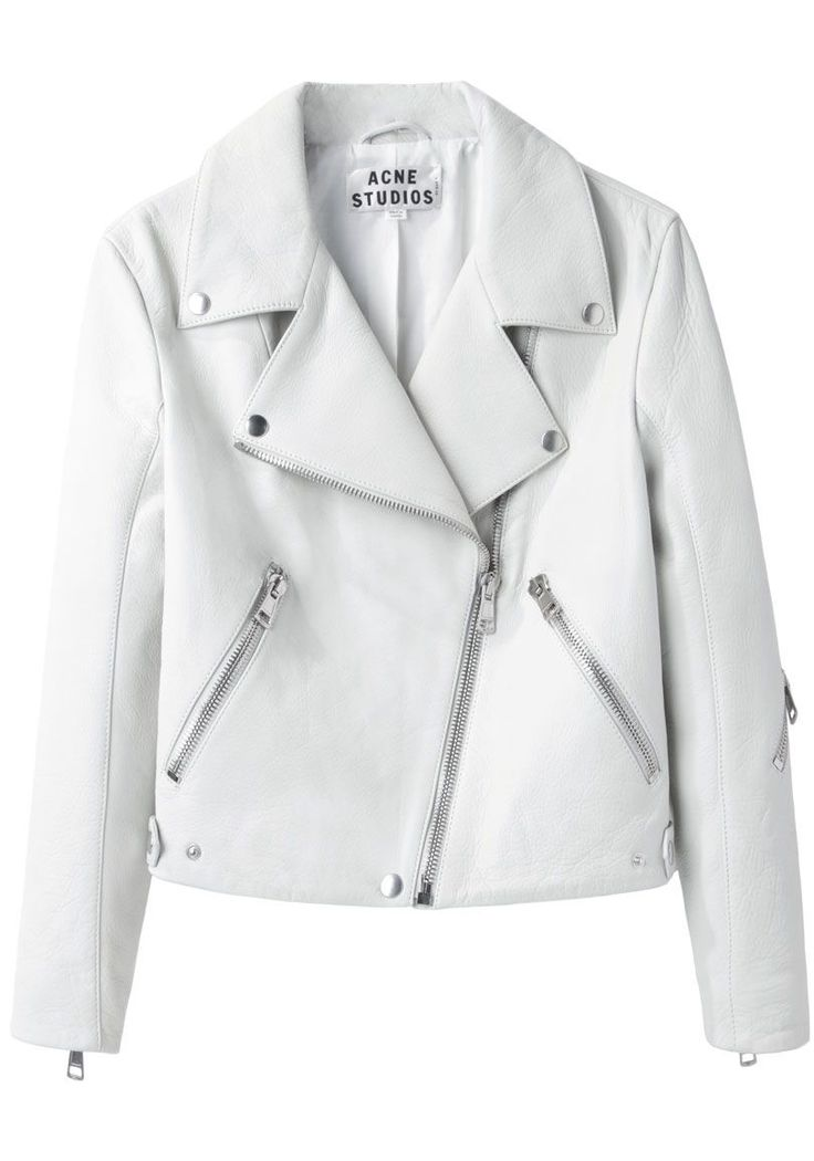 Best 25  White leather jackets ideas on Pinterest | White leather ...
