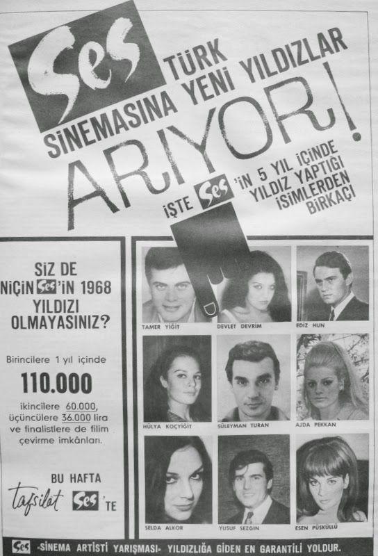 OĞUZ TOPOĞLU : ses dergisi sinema artisti yarışması 1967 nostalji...